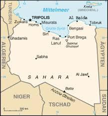 Libyenlandkarte